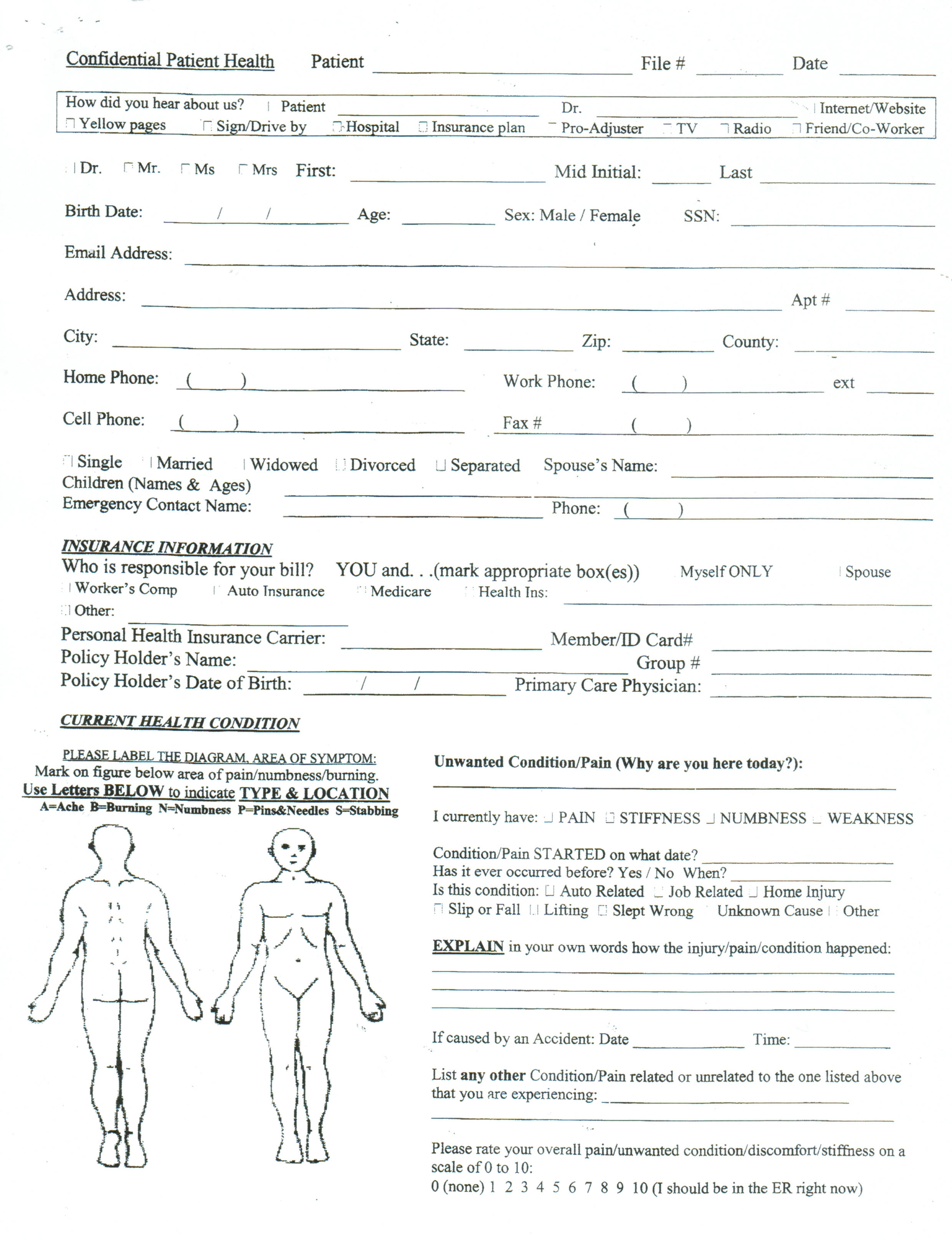 patient intake form template